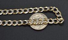 "As44 Men's 6mm 14k Solid Yellow Gold Diamond Cut Curb Chain Bracelet. 8.5"" 7.5gr"