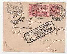 STORIA POSTALE 1918 REGNO C.10+25 SU EX ROMA 17/8 Z/5290