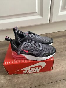 Nike Air Max 270 Kids Girls Uk1.5/eur33.5 Grey Pink Trainers