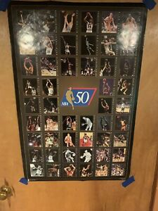 "Vintage ""NBA At 50"" Poster 23""x35"" Very Rare!"