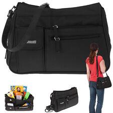 Handtasche Alessandro Sevilla Schultertasche Microfaser Tasche Bag schwarz