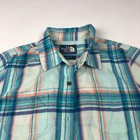 The North Face Medium Thin Blue Women's Button Front Long Sleeve Shirt