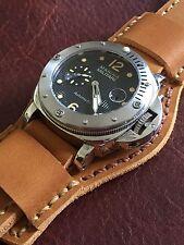 Premium Horween Leather 24mm Men's watch Flight strap Harvest Inferno Band