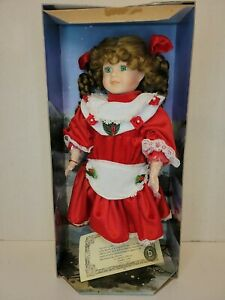 Brinn's Collectible Doll, 1994 Christmas Red Dress, Brunette, In Original Box