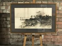 Antique Artist Proof Etching By The American Artist Ernest C Rost