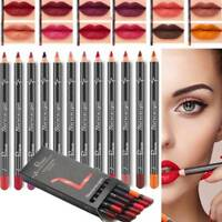12 Pcs/set Lipstick Pen Waterproof Pencil Lip Liner Long Lasting Matte Makeup HK