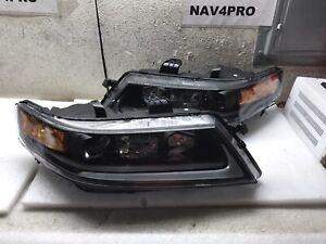 2004-2008 Acura TSX CL9 Black LED Bar Projector Xenon HID Headlight Pair #H388