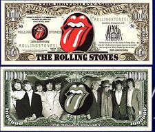 1- Rolling Stones Million Dollar Bill   - Collectible- FAKE-  MONEY- ITEM O