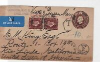 england to usa postage due  stamps cover ref 12931