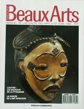 BEAUX ARTS MAGAZINE N° 67/AVRIL 1989/LE LOUVRE/ART AFRICAIN/SARTIS