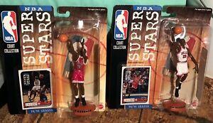 Set Of 2 NBA SUPERSTARS 98/99 BULLS COLLECTION MICHAEL JORDAN HOME AWAY Figures