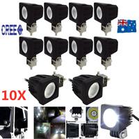 10x 10W CREE LED Light Bar FLOOD Beam Offroad Work Fog Lamp Reverse 4x4 Ford AU