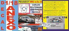 ANEXO DECAL 1/18 PEUGEOT 205 TURBO 16 E2 C.REUTEMANN R.ARGENTINA 1985 3rd (02)