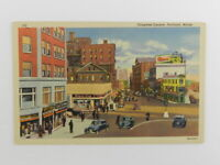 Vintage Unposted Postcard Congress Square Portland ME Linen CT Art Colortone