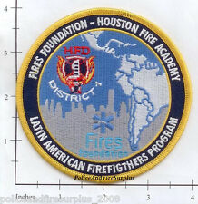 Texas - Houston Fire Dept Academy TX Fire Dept Patch Latin American Firefighters
