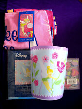 New Disney Tinker Bell Kids Bath Set Shower Curtain Hooks Bath Towel & Trash Can