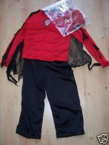 HALLOWEEN-red and black flashing demon boy - new - age 5-6yrs