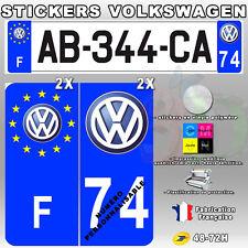 Stickers Plaque D'immatriculation Logo Volkswagen 4 pièces 45x100 mm
