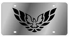 New Pontiac Firebird Logo Stainless Steel License Plate