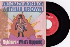 """THE CRAZY WORLD OF ARTHUR BROWN NIGHTMARE PSYCHEDELIC ROCK 1969 RECORD ITALY 7"""""""