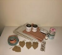 SHIPS FREE!! Huge Lot Of Rustic Country Craft Supplies - All Unused Remnants!
