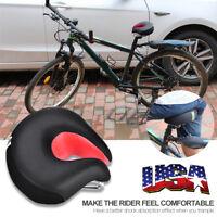 Comfort Wide Big Bum Bike Bicycle Cruiser Extra Sporty Soft Pad Saddle Seat US