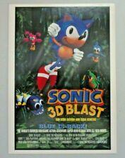 SONIC 3D BLAST PROMO POSTCARD VIDEOGAME SEGA HARD TO FIND!
