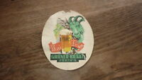 OLD 1950s GERMAN BIER BEER LABEL, GRUNER BREWERY BAYERN GERMANY 2