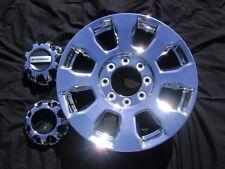 "2017 2018 2019 FORD f250  20""  20x8 PVD Chrome Factory OEM Rim Wheel & Cap 10101"