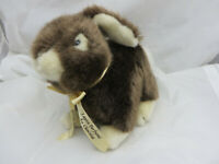 Chocolate Scented plush Bunny brown stuffed toy hare 11 inches long