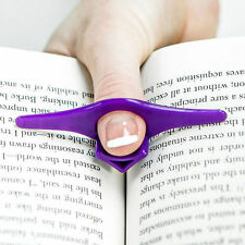 2X  Thumb Thing Book Page Holder and Bookmark Multicolours