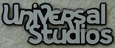 UNIVERSAL STUDIOS Die Cut Title Paper Piece for Scrapbook Pages - SSFFDeb