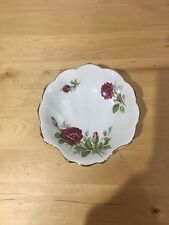 Royal Albert Canadian Rose Shell Dish Pink England Brushed Gold Bone China