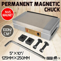 """5"""" X 10"""" Fine Pole Permanent Magnetic Chuck N45 Magnet Material Neodymium"""