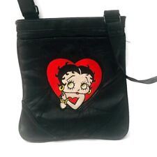 Betty Boop Women's Messenger Crossbody Bag Purse Black
