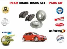 FOR ROVER MG ZR MGZR 160 1.8i VVC 01-07 REAR BRAKE DISCS SET AND DISC PADS KIT