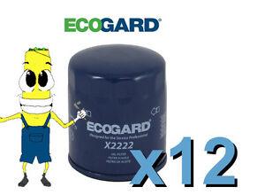 Premium Oil Filter Ecogard X2222 Replcaces Fram PH10060 L12222 PG2222 Case of 12