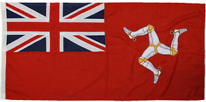 Isle of Man traditionally sewn red ensign MoD approved woven flag merchant civil