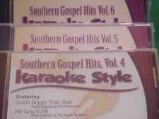 Southern Gospel Hits  #4, 5 & 6 ~~ Christian ~~ Daywind ~~ Karaoke Style ~~ CD+G