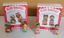 2 Hallmark Merry Miniatures Penda Kids PendaKids 2 Piece Sets