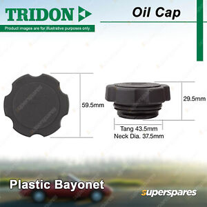 Tridon Oil Cap Plastic Bayonet 37.5mm for Daewoo Lacetti Leganza Nubira Tacuma
