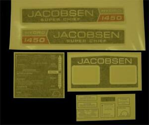 Jacobsen Super Chief 1450 Hydro Decal set.