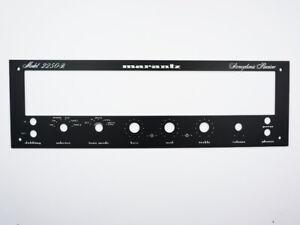 Marantz 2250 B 2250B Receiver Front Panel Faceplate (Face Plate) Black