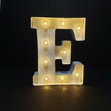 White Metal Marquee Letter - E, Lighted, Vintage Style, 9.875 inches by Darice