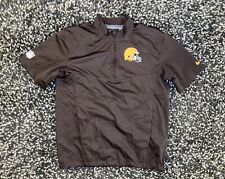 Nike Cleveland Browns On Field Short Sleeve Coach Jacket Men's Medium EXCELENT