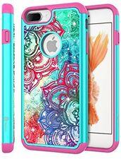IPhone 7 Plus Case, Style4U Shock Resistant Hawaiian Flower Studded Rhinestone