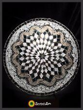 Mosaik Lampe Mosaiklampe orientalische Deckenlampe Samarkand-Lights Silber