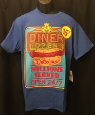 AKADEMIKS GRAPHIC TEE SHIRT NEW W TAG SIZE XL DINER OPEN 24/7 COLORFUL HIP STYLE