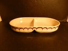 Vintage Mid Century Modern Red Wing Two Step Divided Vegetable Dish