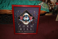 Vintage Corn Hill Arts Festival Poster-1984-Clown Poster-Signed By Bill Finewood